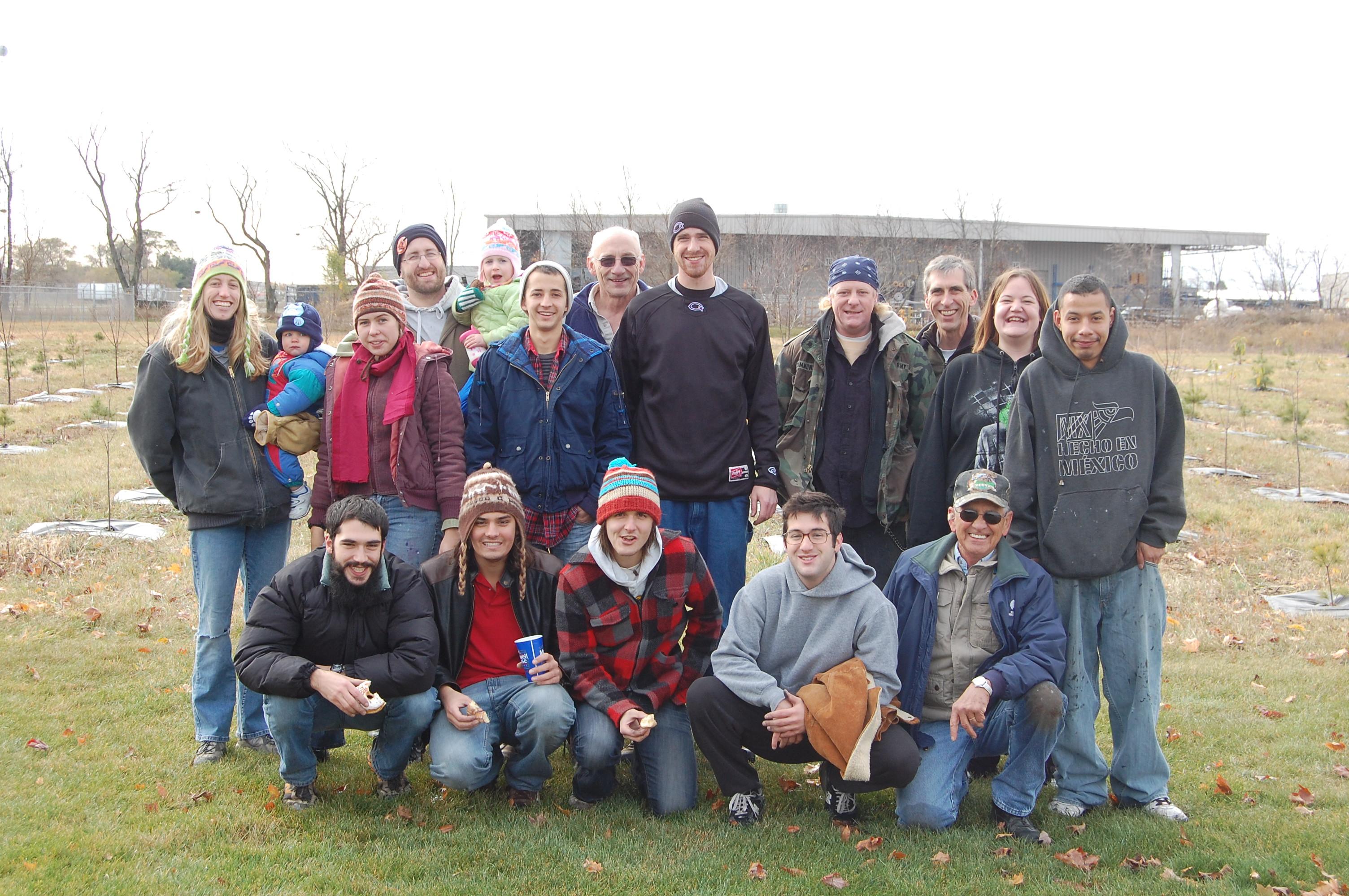 Tree mulching crew